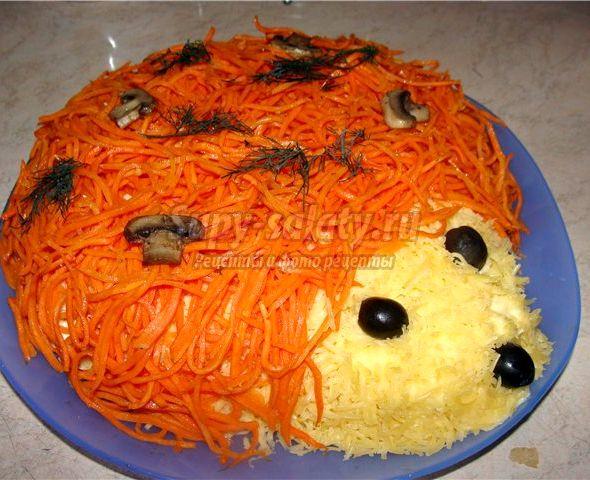 Рецепт салата ёжик с