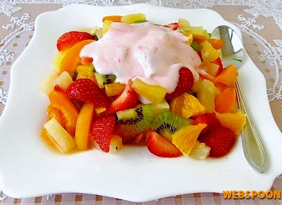 Как приготовить фруктовый салат с йогуртом рецепт