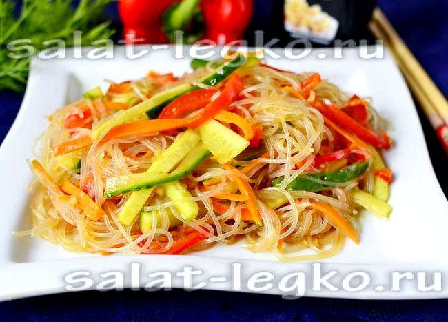 рецепт приготовления салата из фунчозы в домашних условиях