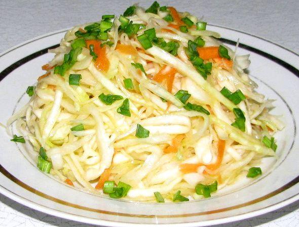 Салат из свежей капусты и моркови рецепт с фото очень вкусный