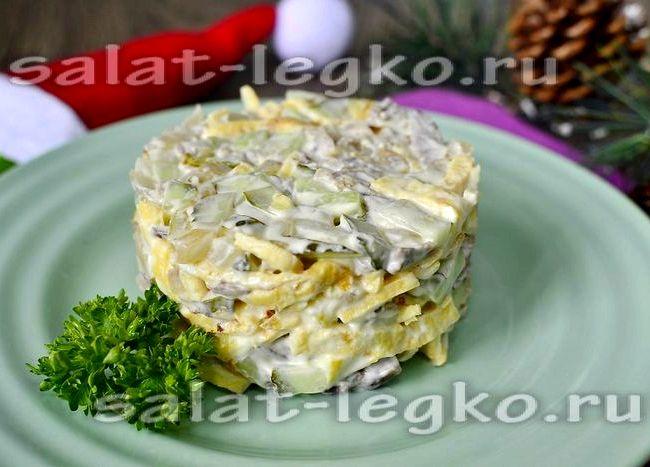 салат рецепт с фото с блинчиками классический