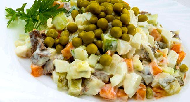 мясной салат из говядины рецепт классический