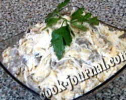 Салат с курицей и шампиньонами рецепт с