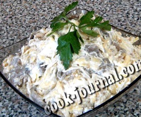 рецепт салат с курицей шампиньонами с помидорами