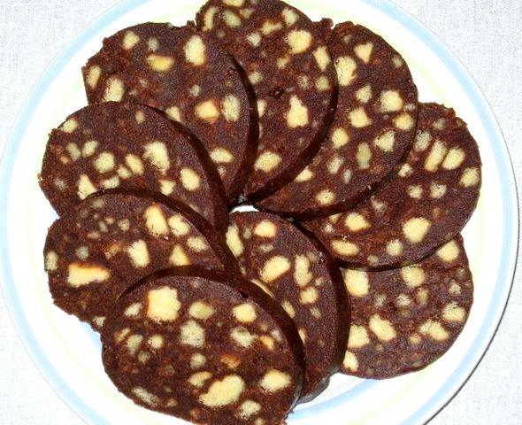 шоколадная колбаска рецепт с фото-хв2