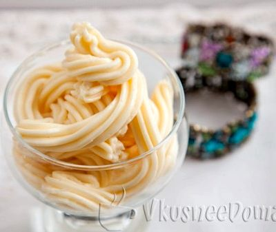 Заварной крем для бисквитного торта очень вкусный и простой рецепт