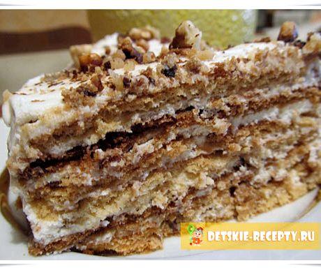 Торт со сметанным кремом вкусный