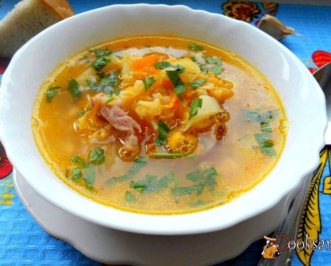 Гороховый суп с курицей рецепт с фото