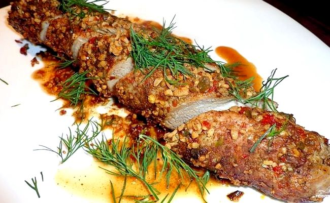 Свиная вырезка запеченная в духовке в фольге рецепт