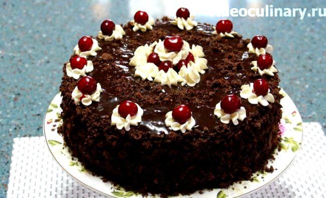 Торт пьяная вишня рецепт фото