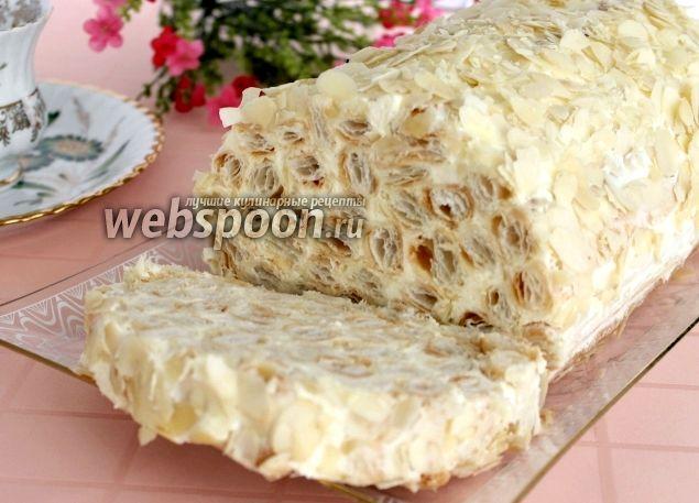Торт полено из слоеного теста рецепт с фото