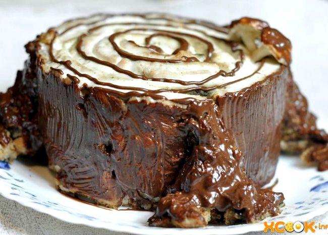 Торт трухлявый пень пошаговый рецепт с фото в домашних условиях