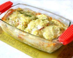 Треска с картошкой запеченная в духовке рецепт с фото