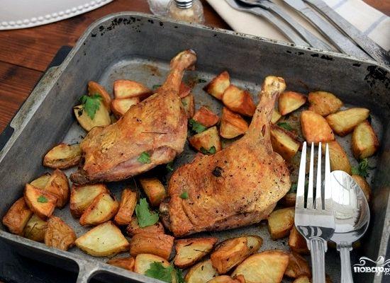 Утка в духовке пошаговый рецепт с фото с картошкой