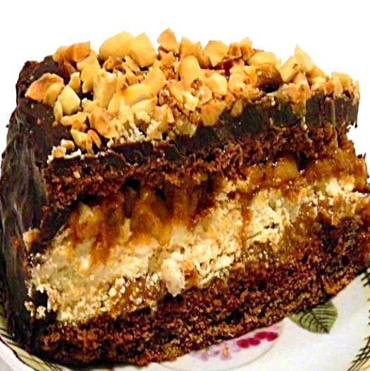 Рецепт торта сникерс фото пошагово