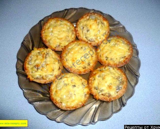 Жульен с курицей и грибами рецепт с фото в тарталетках