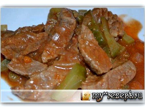 Азу рецепт из говядины с солеными огурцами