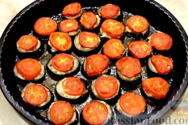 Баклажаны с фаршем и помидорами в духовке рецепт с фото