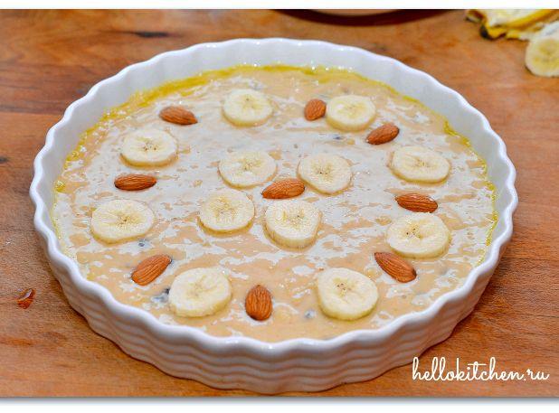 Банановый пирог в духовке простой рецепт с фото