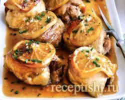Бедро куриное в духовке рецепт с фото