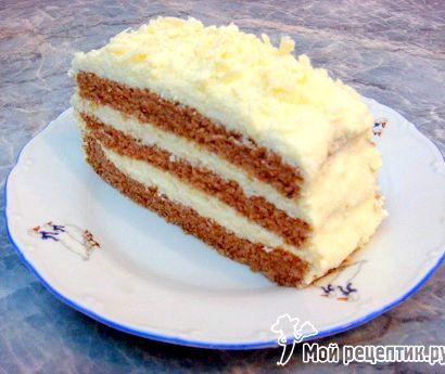 Бисквитный торт пошагово рецепт с фото