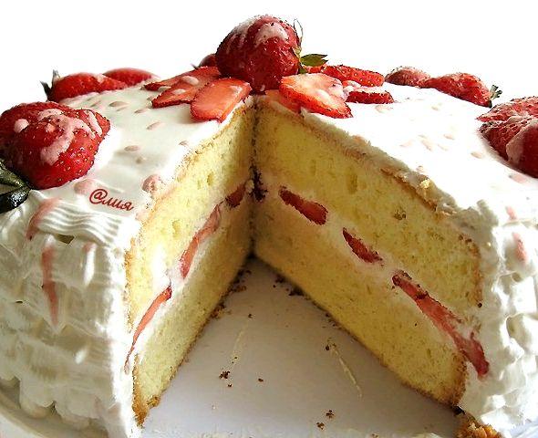 Бисквитный торт с сметанным кремом рецепт с фото