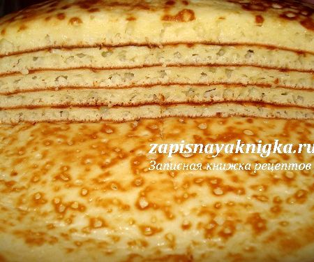 Блины толстые на кефире рецепт с фото пошагово