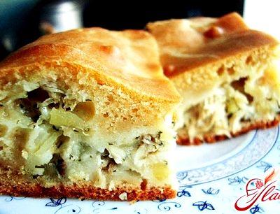 Быстрый пирог с капустой на кефире и майонезе рецепт с фото