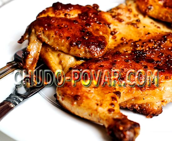 Цыплёнок табака в духовке рецепт с фото