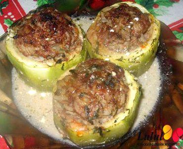 Фаршированные кабачки с мясом в духовке фото рецепт