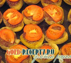 Фаршированный картофель фаршем в духовке рецепт с фото