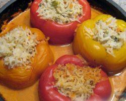 Фаршированный перец рецепт в духовке