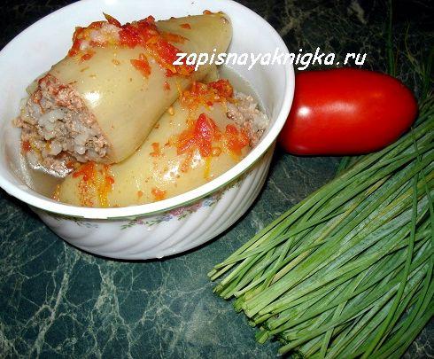 Фаршированный перец с мясом и рисом рецепт с фото в мультиварке