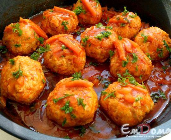 Фрикадельки в томатном соусе на сковороде рецепт с фото