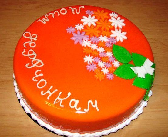Глазурь для торта цветная рецепт с фото