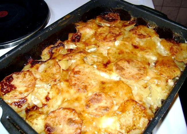 Горбуша запеченная в духовке с картошкой с фото рецепт