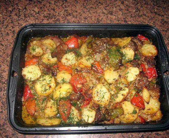 Говядина в духовке с овощами рецепт с фото