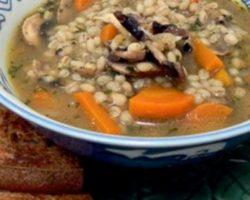 Грибной суп из сушеных грибов с перловкой рецепт с фото