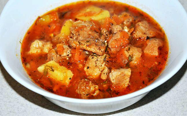 Гуляш по-венгерски рецепт из свинины