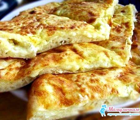Хачапури с творогом на сковороде рецепт с фото