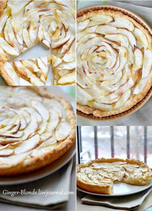 Яблочный пирог рецепт с фото из слоеного теста фото