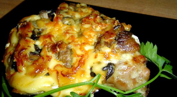 Эскалоп из свинины с помидорами и сыром рецепт с фото