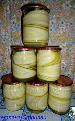 Кабачки маринованные на зиму рецепт с фото