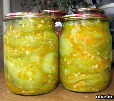 Кабачки с чесноком на зиму рецепт с фото