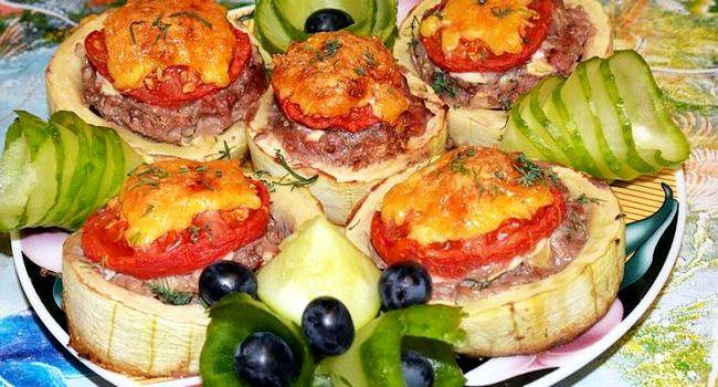 Кабачки с мясом в духовке рецепт с фото пошаговый