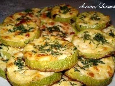 Кабачки в духовке рецепт с фото с сыром