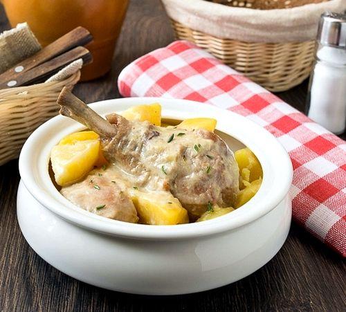 Как потушить картошку с курицей в кастрюле пошаговый рецепт