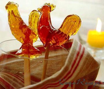 Как сделать петушки из сахара в домашних условиях рецепт