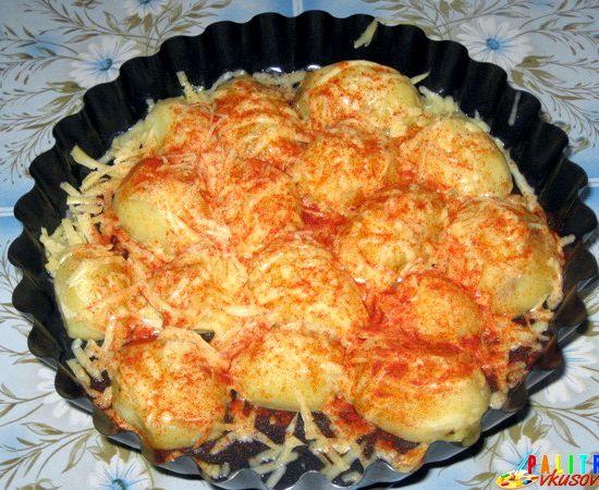Картофель с сыром в духовке рецепт с фото