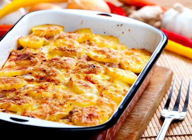 Картофель в духовке со свининой рецепт с фото